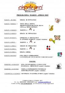 Programma marzo-aprile 2015