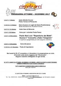 Programma ottobre dicembre 2017-18