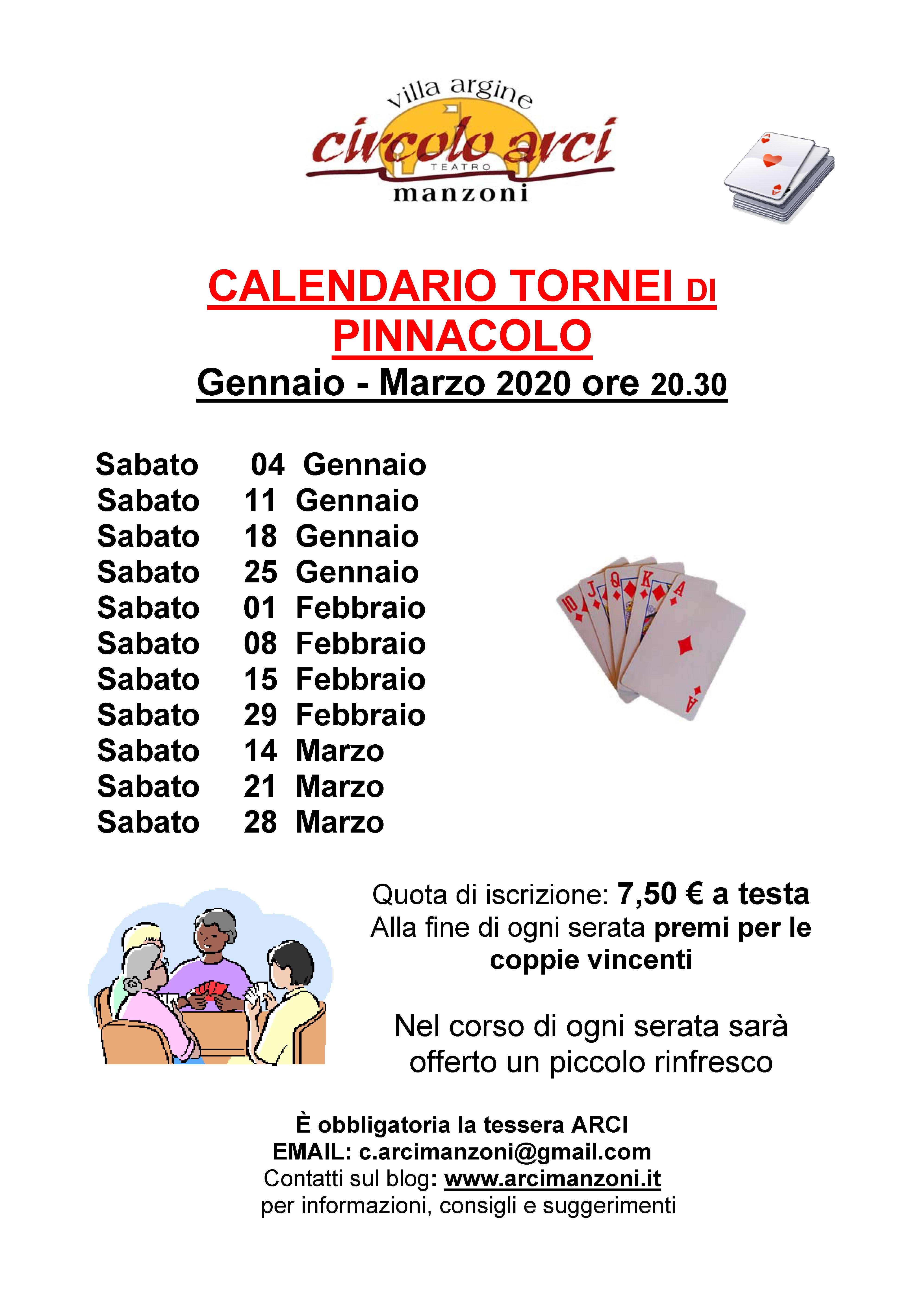Pinnacolo Gennaio-Marzo 2020